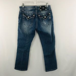Miss Me denim boyfriend Capri SZ 27